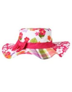 GYMBOREE SURF ADVENTURE PATCHWORK w/ FLOWERS N PLAID SUN HAT 0 12 24 2 3 4 5 NWT