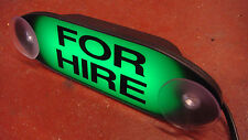 TAXI 'FOR HIRE' LIGHT GREEN SIGN LED'S CONNECTS TO ANY TAXIMETER TAXI METER