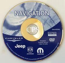 Chrysler Dodge Jeep Moper Navigation 2013 Update DVD GPS OEM 05064033AL AL VER.