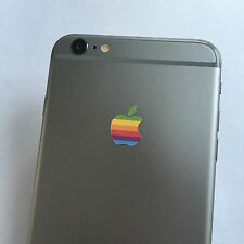 2 x Apple Retro Logo Decal Sticker for iPhone 4/4S/5/5S/6/6S/7 Plus