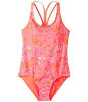 Under Armour Girl's Orange Heatgear One-piece Swimsuit Swimwear 10224 Size 16