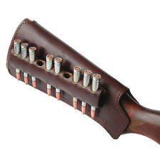 Rifle Buttstock Bullet Cartridge Holder Carrier Ammo .308, 7.62, leather (brown)