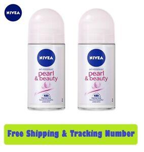 2 x 50ml. NIVEA Deo Pearl and Beauty Roll-On Vitamins Pearl & Avocado Deodorants