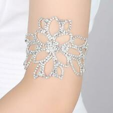 Arm Crystal Bracelets for Women Floral Bridal Ankle Wedding Jewelry CH