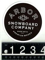 ARBOR SNOWBOARDS STICKER Arbor Snowboard Company 4 in Round Black/White Decal