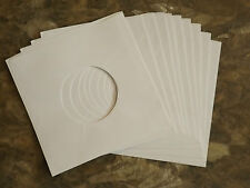"10 x 7"" record white paper sleeves / covers for singles : NEW : Special Offer!"
