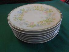 "Beautiful NORITAKE ""Essence"" Set of 8 BREAD / SALAD / DESSERT Plates 8"" diameter"