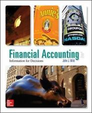 Financial Accounting: Information for Decisions: ACCT 1310 Student Value Ed. CCC
