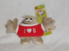 HUGMEEZ PLUSH I LOVE U BACKPACK CLIP FRIEND 4""