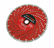 "9"" Grinding Disc 230mm Diamond Edge Dry Cutting Disc Brick, Masonry 22mm Bore"