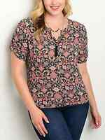 "Bluebell ladies blouse top plus size US2XL UK 16/18 (44""chest) geometric blouse"