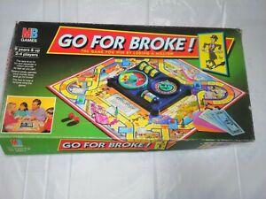 Go For Broke Board Game MB 1985 Vintage