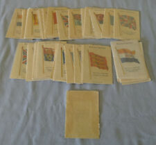 1933 Kensitas Full 48/48 British Empire Flag Cigarette Silk Set With Wrapper