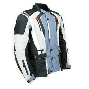 ARMR Moto Tottori Evo 2 Motorcycle Motorbike Waterproof Jacket Grey / Blue