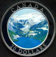 "Canada Mint 2003 20 Dollar ""Rocky Mountains"" With Paper 25734/ 35000"