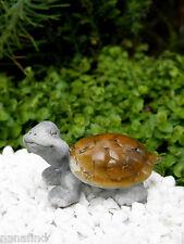 Miniature Dollhouse Fairy Garden ~ Happy Smiling Tortoise Figurine ~ New