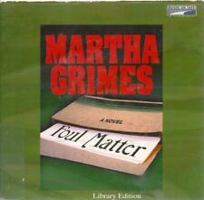 FOUL MATTER by MARTHA GRIMES ~UNABRIDGED CD AUDIOBOOK