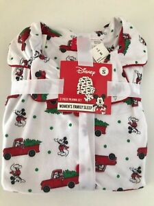 Disney Womens Family 2 Piece Pajama Set - Mickey Mouse Flannel - Small - NEW