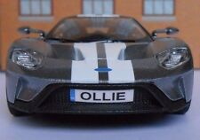 FORD GT 2017 PERSONALISED PLATES Toy Car MODEL boy girl dad BIRTHDAY GIFT NEW!!!