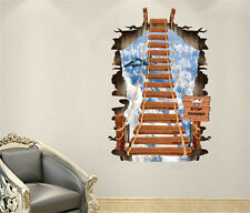 3D Sky ladder scenery Home Room Decor Removable Wall Stickers Decal Decorations