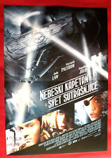 SKY CAPTAIN AND THE WORLD... 2004 LAW JOLIE PALTROW UNIQUE SERBIAN MOVIE POSTER