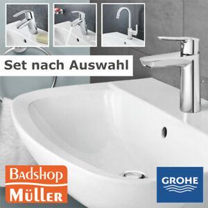 Grohe Bau Keramik Waschtisch Set + Armatur Eurosmart Waschbecken