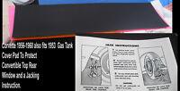 Corvette Parts 1962 1961 1960 1959 1958 1957 1956 1955 1953 Mohair Gas Tank Felt