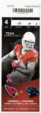 2013 ARIZONA CARDINALS VS CAROLINA PANTHERS TICKET STUB 10/6/13 LARRY FITZGERALD