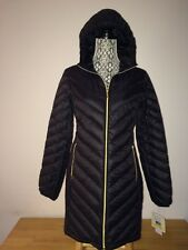 $190 MICHAEL KORS Black  Quilted 90% Duck  Down Hooded Packable Jacket  Coat M