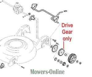 Pair of Genuine John Deere JS63 Drive Gears SAU10686 JS63C JS63V JS63VC Vario