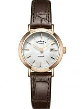 Rotary Ladies Leather Strap LS05304/02 Date Rose Gold RRP £129.00