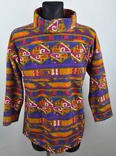 C&A Vintage Azteca Jersey De Lana Cuello Tortuga señoras UK 12-14 medio 38/40 euros Navajo
