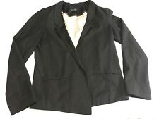 TOPSHOP Blazer Jacket Black No Button Size 6 (C1)
