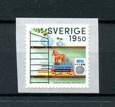 Suecia 2017 estampillada sin montar o nunca montada Retro Cadena Estante 1v S/un sello de bobina sellos