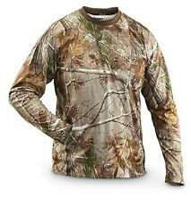 Mens Camouflage Camo Real Tree Jungle Forest Print LONG Sleeved T Shirt top