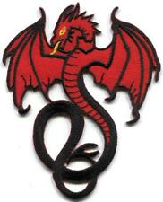 Red dragon medieval celtic tattoo embroidered applique iron-on patch S-1558