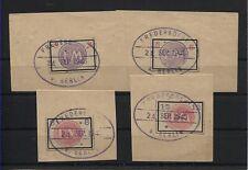 Lokalausgabe Fredersdorf Sp 231-234 gestempelt auf Briefstücken (B05667)