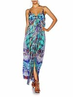 BNWT CAMILLA LADIES DIVINITY DANCE LOW BACK LAYERED SILK MAXI DRESS SIZE 8 $649