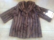 Superb Vintage Furrier Made Exquisite Real Mink lined Fur Coat Chestnut Brown