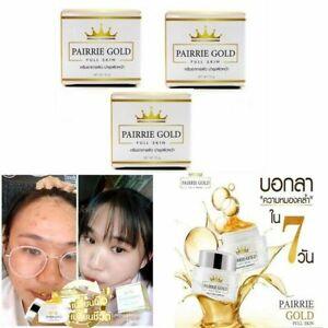 1 SET PAIRRIE GOLD FULL SKIN Day & Overnight Cream Reduce Dark Pore Spot Help Cl