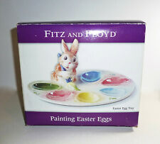 """Fitz and Floyd Bunny """"Painting Easter Eggs"""" Tray. Excel. cond. Charming."""