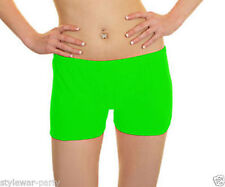 Ladies Neon Lycra Dance Party Shorts Hot Pants Casual Girls Club wear