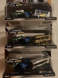 Micro Machines Series 2 #06 Micro City Bus Regular-Rare & Ultra Rare Chase Gold