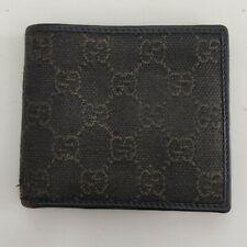 Genuine Gucci Monogram GG Canvas Wallet with Brown Leather Interior Men's Wallet