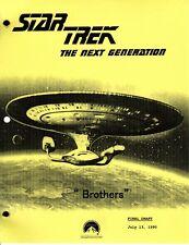 Star Trek Script - TNG - Brothers