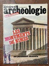 revue Dossiers de l'Archéologie N°55 histoire et Les Monuments DE Nîmes 1981