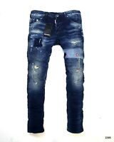 Dsquared2 Men's Washed Blue Slim Fit Jeans Made in Italy 2395