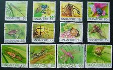 SINGAPORE 1985: INSECTS: SET 12 USED STAMPS
