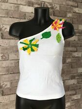 Womens/Ladies One Shoulder Cropped Top Size 10-12 Atmosphere