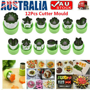 12Pcs Cookie Shape Cutter Mold Fruit Vegetable Stainless Steel Mould Food Mould~